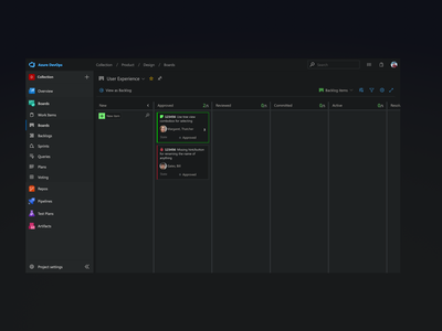 Azure NightDevs - Dark Theme of Microsoft Azure DevOps ux design uxdesign ui design uidesign uiux dark ui dark theme dark mode ux ui devops azure microsoft