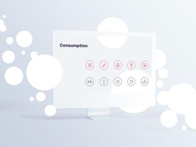 Consumption Icons Set
