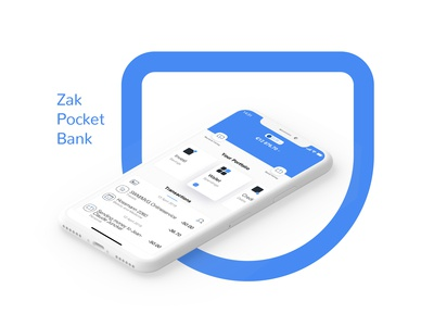 Mobile Bank - Zak Cler. Identity and App design