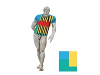 Antic Greek Statues of Herakles Farnese in branding t-shirt