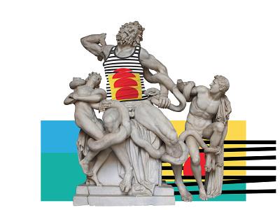 Antic Greek Statues in t-shirts with Ninth Month brand and identity greek statues statues in t-shirt t-shirt design t-shirt statues greek antic logo identity branding identity design identity digital branding illustration grozny germany munich saint digital design