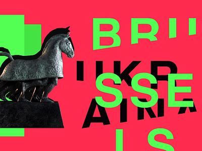 Brussels Ukraïna Review - Magazine illustration brand design graphic design advertising banner identity branding munich saint digital