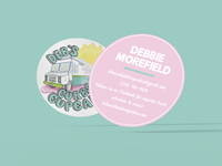 Debs Curbside Cupcakes - Business Cards