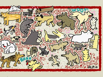Cachorrada II doodle artist doodle doodleart doddle art digitalart illustration doggy dog