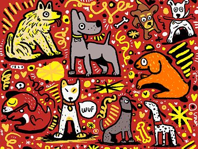 CÃES doodle artist doodle doddle art doodleart illustration animals pet doggo dog doggy cães