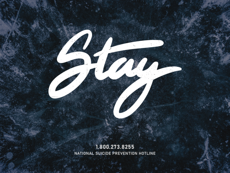 Stay stay suicide prevention suicide awareness depression suicide typography apple pencil vector design
