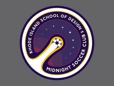 Midnight Soccer Crest design risd meteor comet soccer branding illustrator logo graphic  design