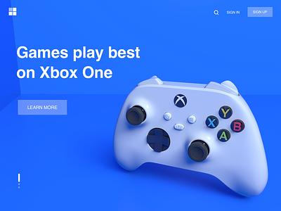 Xbox Controller ui gui icon ux design illustration blue xbox xboxone xbox360 xboxonex xbox one xbox 360 xbox one x game