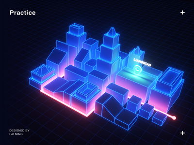 Practice 3d practice ui science and technology science technology cool blue c4d gui fui punk liangniao night light texture of material texture