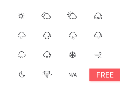 Weather icons free download lightning overcast haze fog snow rain cloudy sunny psd free icon weather