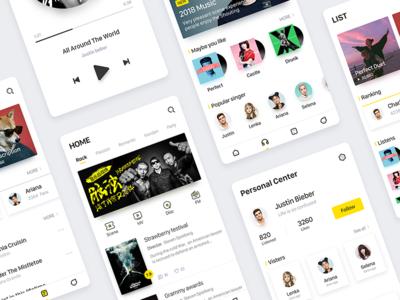 Music App white ux ui player music gui sheeran ed cool artist albums