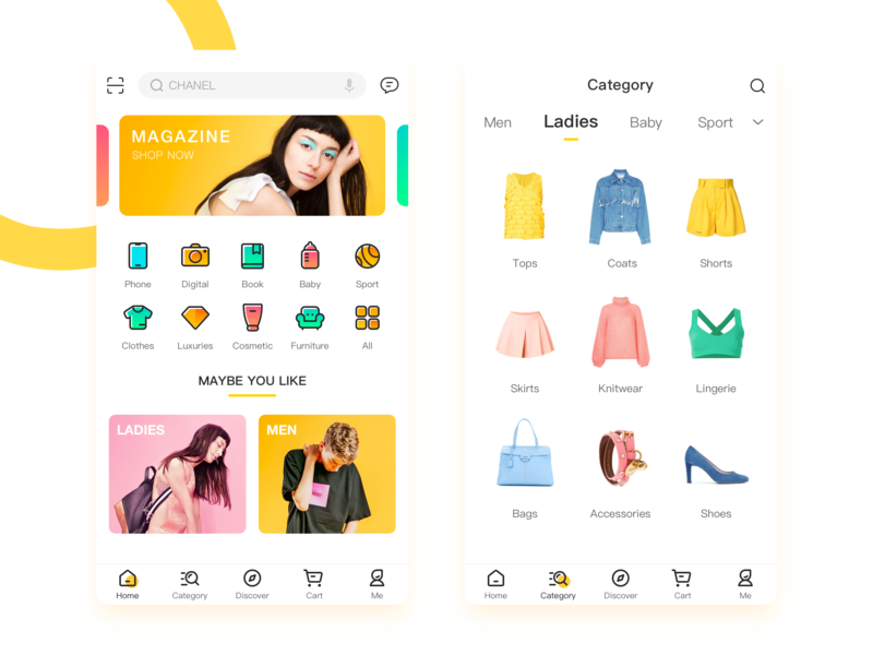 E-Commerce icons ui style sport shop search product phone men lady icon e-commerce ecommerce colour clothing category categories campaign baby app