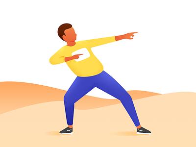 Run young yellow ux ui sport speed running runner run nike men man illustration icons icon healthy boy body blue black