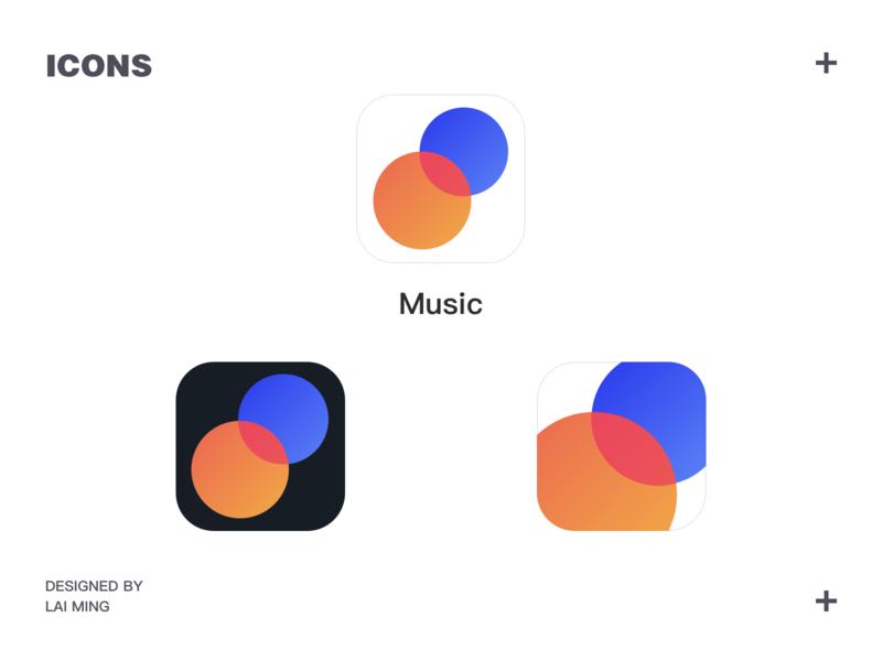 Icon Practice yellow red orange illustration logo design blue cool icons artist app music phone ux gui icon ui