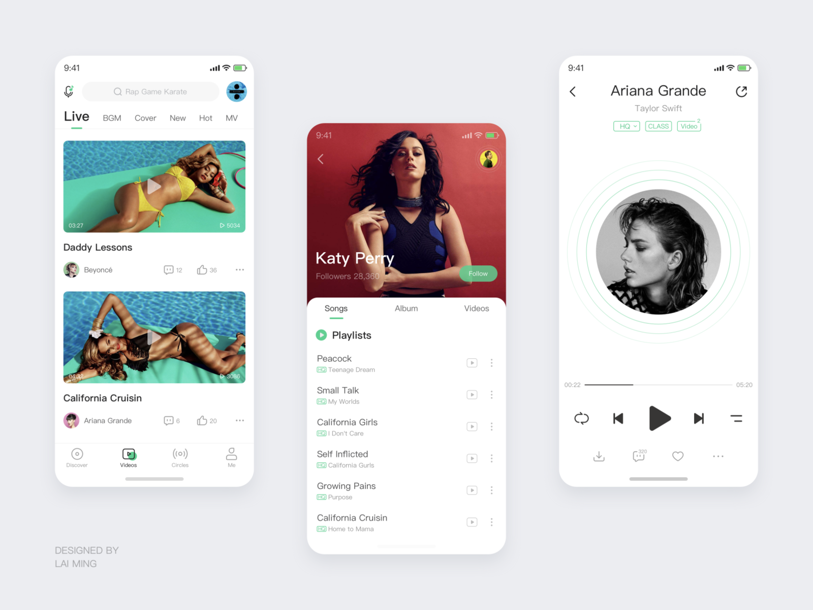 Music App By Lai Ming On Dribbble