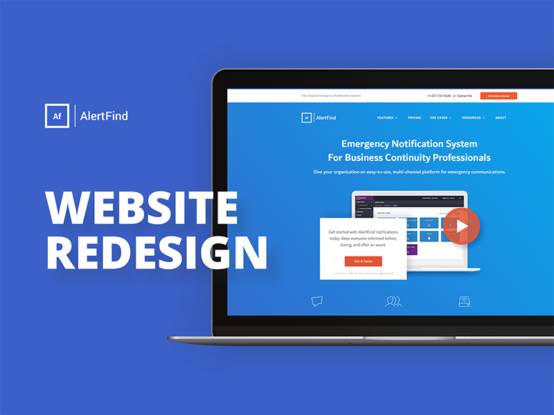 Alertfind Website Redesign by Eagle-Eye Media on Dribbble
