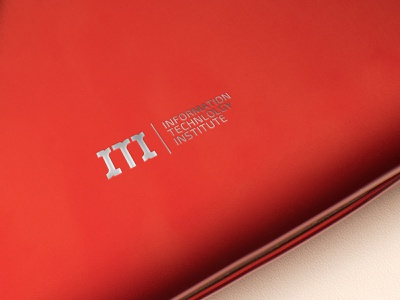 information technology institute illustration institute technology information redesign red awards vector mark identity branding design logo