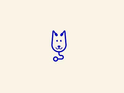 Dog Doctor vector illustration blue mark identity branding logo shop petshop vet clinic doctor design