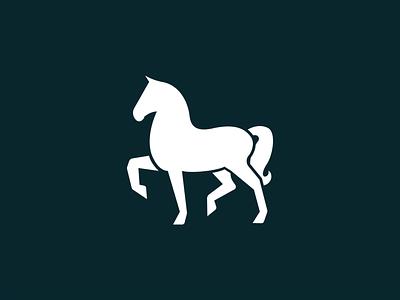 Horse draw black horse invitation mark identity branding design logo