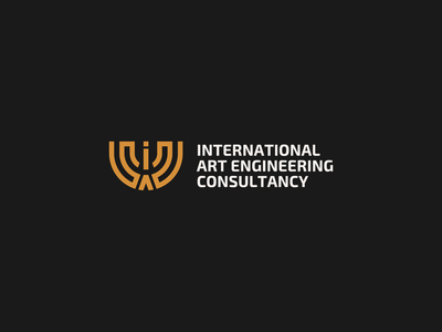 International art engineering consultancy consultant consultancy engineering art international green yellow vector awards invitation mark identity branding design logo
