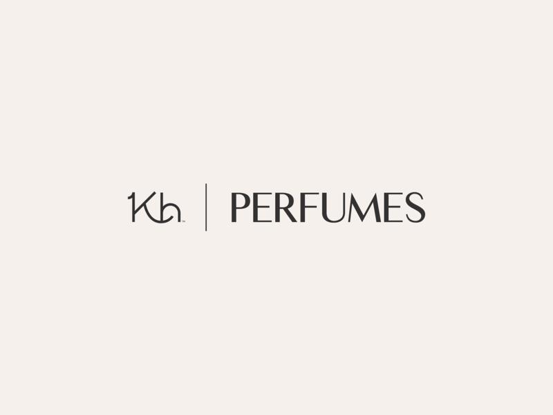 KH Perfumes elegant perfumes classic green yellow vector awards invitation mark identity branding design logo