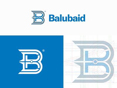 Balubaid letters b logo blog blue grid green yellow vector awards invitation mark identity branding design logo