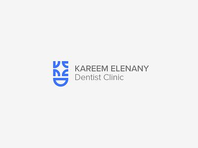Kareem El enany Dentist clinic logo vector face mark identity branding design smiley face hospital logodesign logotype blue dentist doctor smile logo