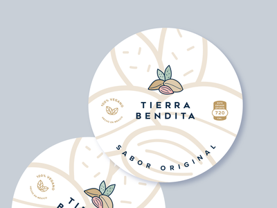 Tierra Bendita_sticker forms illustration logotipos design typography logotipo logotype logo logos