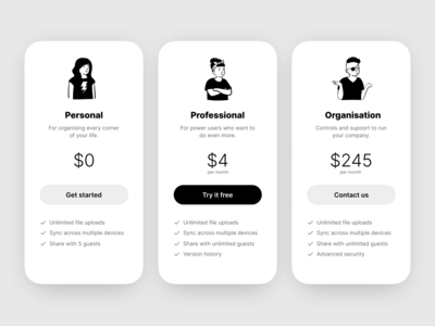 Pricing figmadesign design figma ui uidesign dailyui