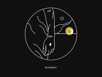 Holy Week Sunday   RISEN holy week easter bible black and white line lineart illustration jesus resurrection