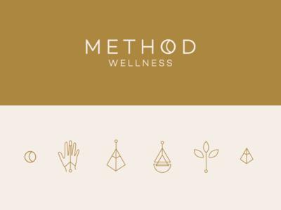 Method Icon Set sauna growth henna healing wellness