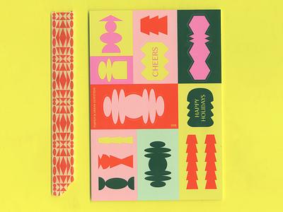 Fujifilm x UO geometric pattern washi tape sticker spot color neon