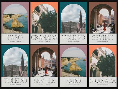 Spain Postcards spain print design postcard modular serif custom type
