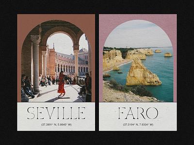 Postcards graphic design layout print design postcards spain custom type