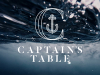 ​Captain's Table; Restaurant Logo - 1st Lockup
