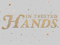 In Trusted Hands, crafted lettering for Bank of Maldives