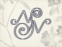 N+S.N Wedding Monogram