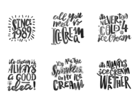 Lettering for an ice cream palor