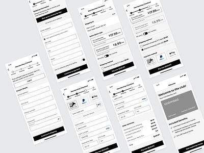 Movie App Checkout Wireframes creditcardcheckout movie app ux ux  ui design ui checkout form checkout app