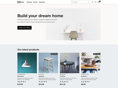 Daily UI #003 Landing Page uidesign design furniture store dailyui 003 dailyui