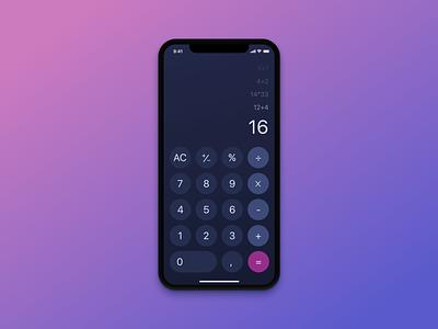 Daily UI #004 Calculator uidesign design app dailyui 004 dailyui