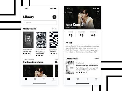Ebook Reader ui designer ui design black and white ios dailui ebooks ui concept design