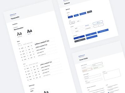 Personal Portfolio Design System ux  ui ui design style guides design systems portfolio design