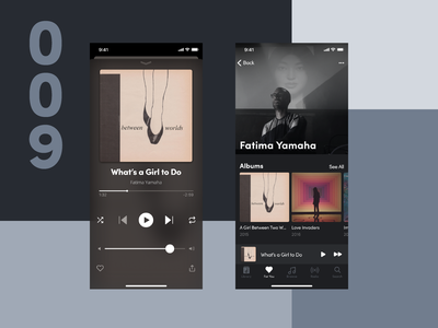 Daily UI #009 Music Player ux  ui design dailyui ui daily ui challange ios design ios app daily ui 009 daily ui