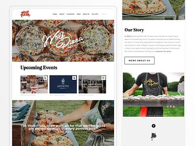 Wolf Pizza - Web Design catering restaurant ui branding website design web design