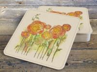 Ranunculus Coasters
