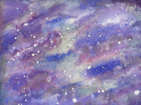 2018 Constellation Watercolor Abstract