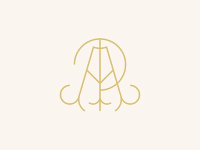 AP Monogram typography zinegraph type logo branding monogram