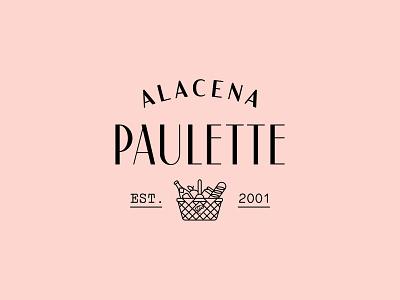 Alacena Paulette type logotype isotype icons foodbasket basket food gourmet typography logo branding