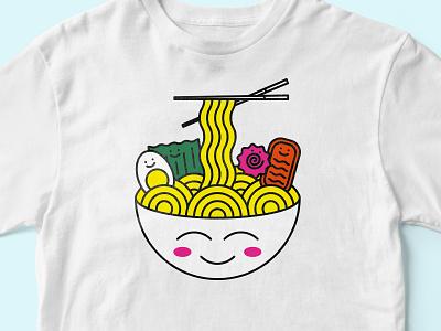 Cute Ramen vector icon illustration noodles nori japan ramen